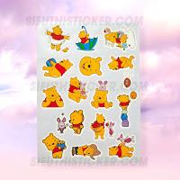 sticker giấy gấu pooh trang trí sổ tay
