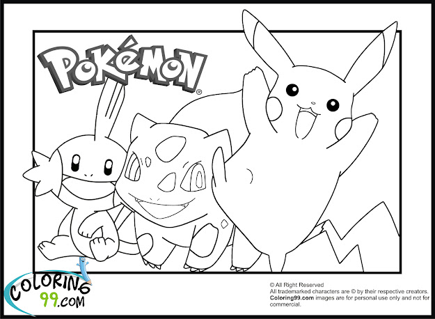 Pokemon Coloring Pages Pikachu Free Printable For Kids