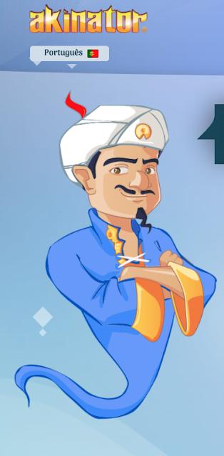 Gênio virtual que é capaz de adivinhar o personagem em que você está pensando