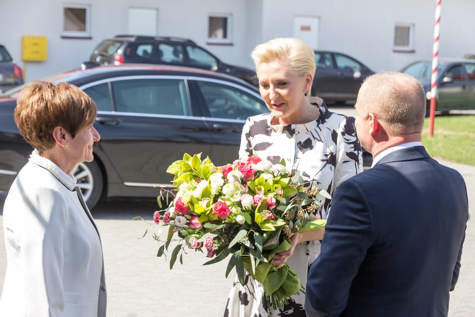 Agata Kornhauser-Duda z wizytą w Janczowej, 12 kwietnia 2018