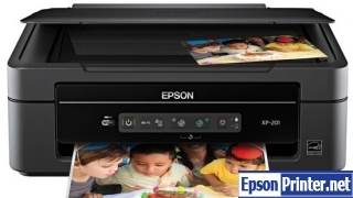 How to reset flashing lights for Epson XP-201 printer