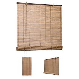 Set 2 jaluzele rulou din bambus, 90 x 180 cm
