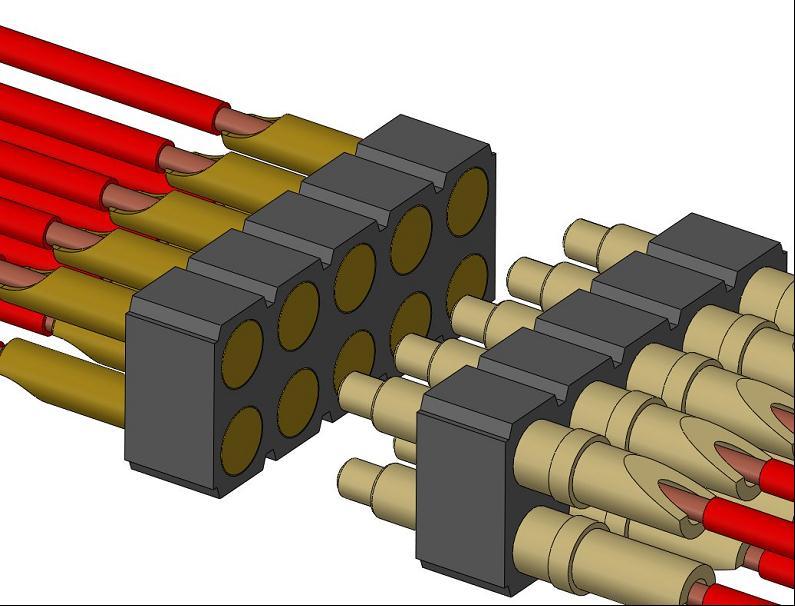 Solder Cup Spring Pin Header Strips