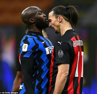 Zlatan Ibrahimovic and Romelu Lukaku fined for £7,000 for 'unsportsmanlike behaviour with provocative phrases' during their Milan Derby bust-up