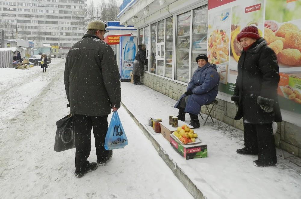 snow sidewalk stall