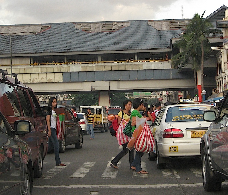 pedestrian crossing at Buendia corner Taft Avenues
