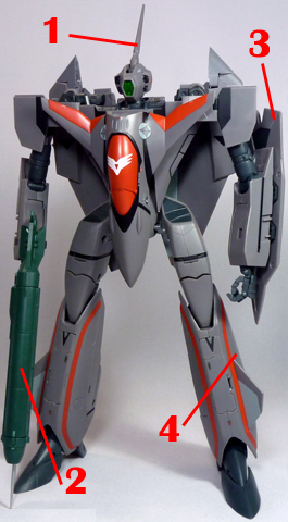Macross Plus VF-11B Thunderbolt Armament weapon position