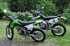 Husband and Wife Dual Sport Bike Build 2009 Kawasaki KLX300R - 2009 Kawasaki KLX140L