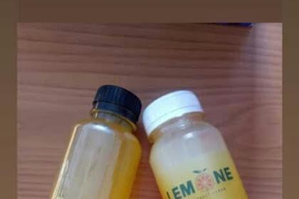 Infuse water jahe lomone kunyit dan madu