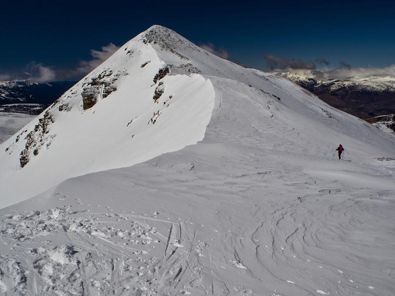 Aresta cap al cim del Puigmal de Llo