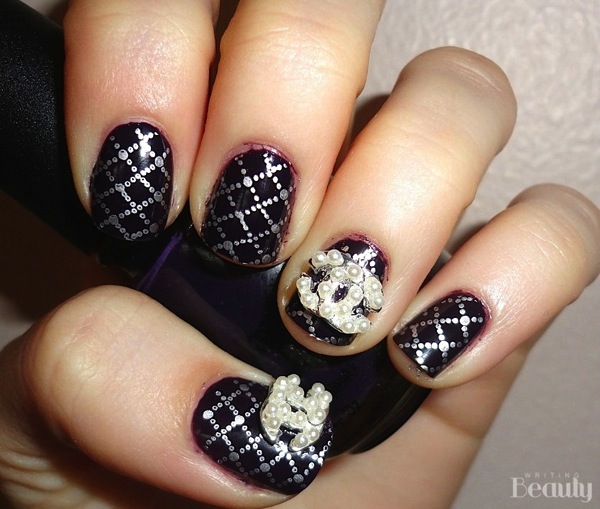 Chanel Inspired Nail Art 4