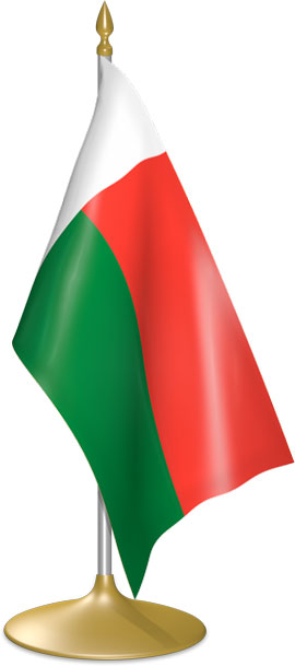Malagasy table flags - desk flags