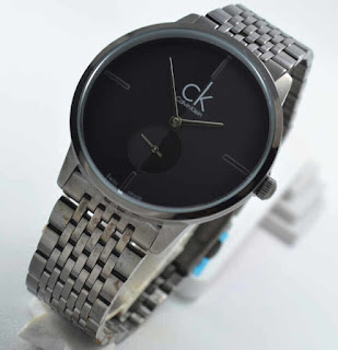 jam tangan CK chrono second full black