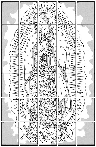 Best Hd Our Lady Of Guadalupe Coloring Page Heart With Wing
