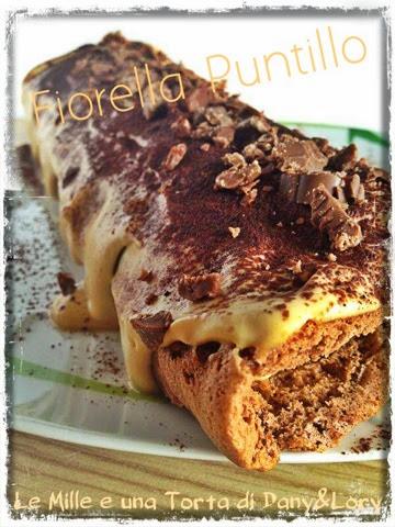 rotolo al cacao con crema al mascarpone e caffeè, con scaglie di cioccolata alla gianduia