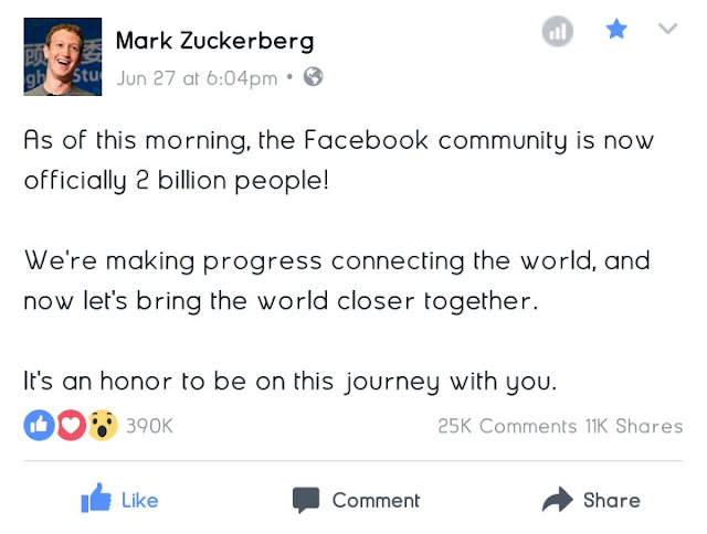 Facebook Now Has 2 Billion Users 2