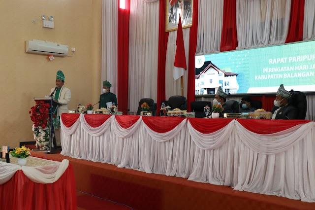 Peringati Hari Jadi Ke-18 Balangan, DPRD Gelar Paripurna Istimewa
