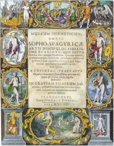 Engraved Tile Page From Musaeum Hermeticum 1625, Alchemical And Hermetic Emblems 2