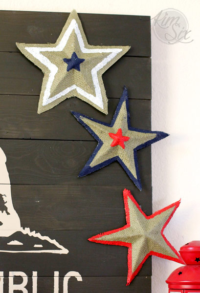 Red White and Blue Three Dimensional stars