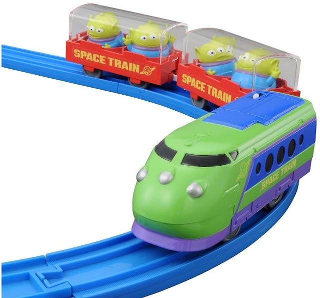 Tàu hỏa hình Alien Space Disney Pixar Dream Railway chất liệu cao cấp an toàn