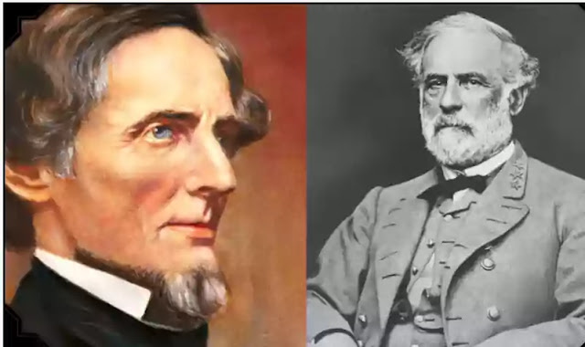 Robert E. Lee and Jefferson Davis