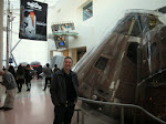 Larry with an Apollo spacecraft