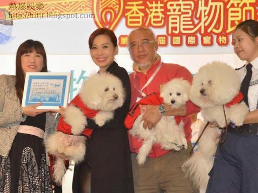 Cally開心3愛犬當狗醫生。