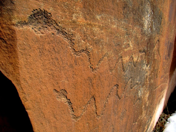 Long snake petroglyphs