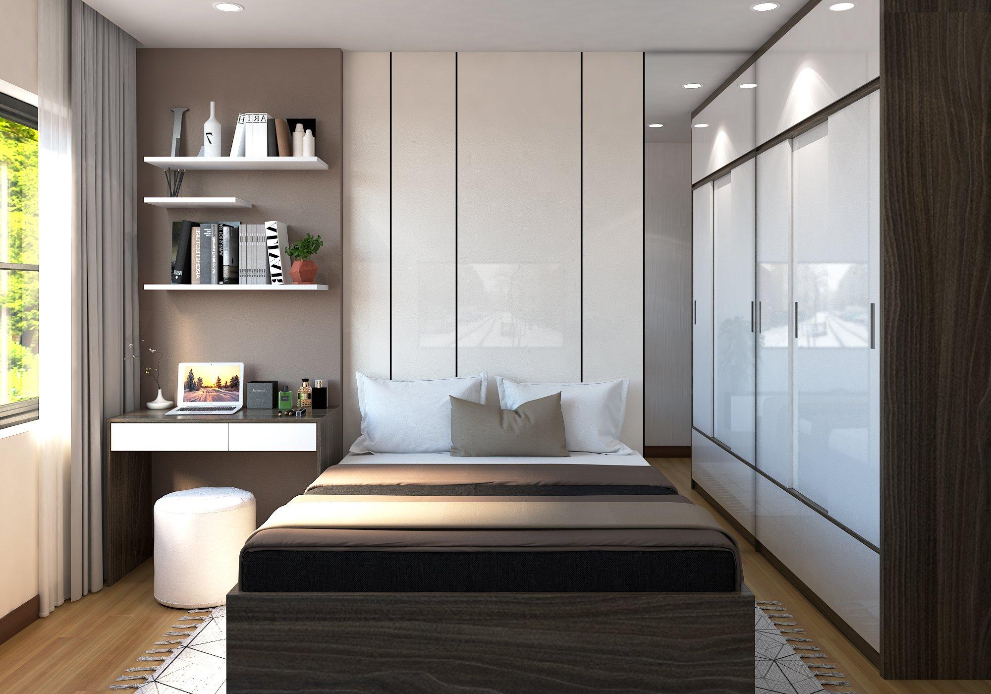 Nội thất căn góc 2 phòng ngủ Bcons Suối Tiên