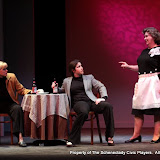 """Cristine M. Loffredo, Jennifer Van Iderstyne and Susan Katz in """"The Philadelphia"""" as part of THE IVES HAVE IT - January/February 2012.  Property of The Schenectady Civic Players Theater Archive."""