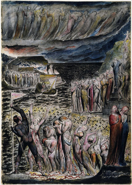 The Vestibule Of Hell And The Souls Mustering To Cross The Acheron By William Blake, William Blake