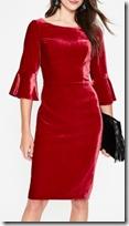 Boden Red Velvet Dress