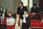 2000. augusztus - Közös Istentisztelet a ceglédi testvérgyülekezet nagytemplomában, Nt. Lízik Zoltán a ceglédi nagytemplomi gyülekezet lelkipásztora, Nt. Molnár Árpád