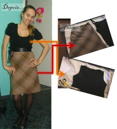 As blogueiras customizam - vestido xadrez