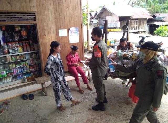 Satpol PP Tanah Bumbu Terjun ke Desa Tegakkan Prokes Cegah Covid-19