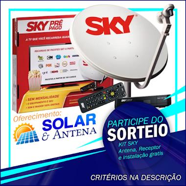 Sorteio de 1 KIT SKY antena, receptor e instalação