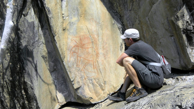 Rock Paintings done by the San over 1,000 years ago