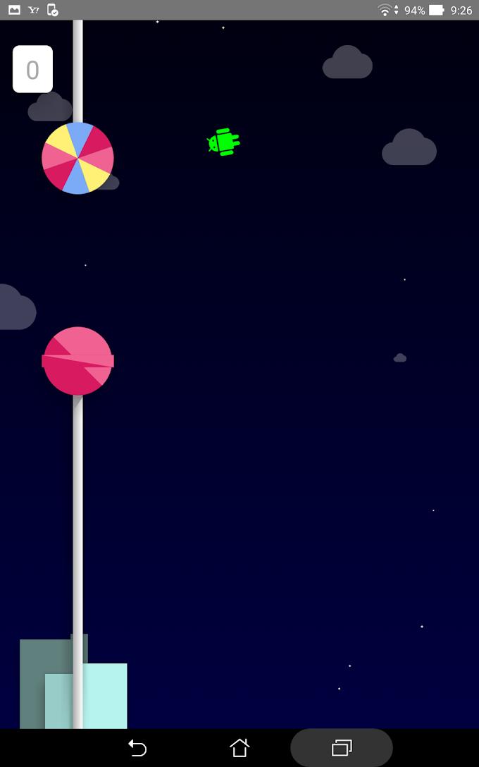 Lollipopのロゴを長押しすると始まるゲーム