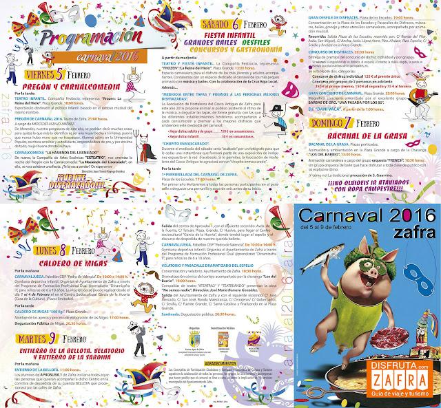 Programa del Carnaval de Zafra 2016