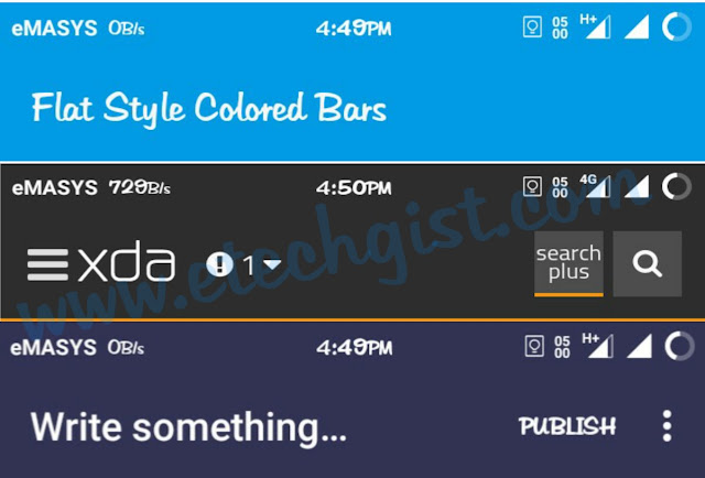 flat style coloured bar