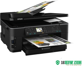 How to reset flashing lights for Epson WorkForce WF-7515 printer