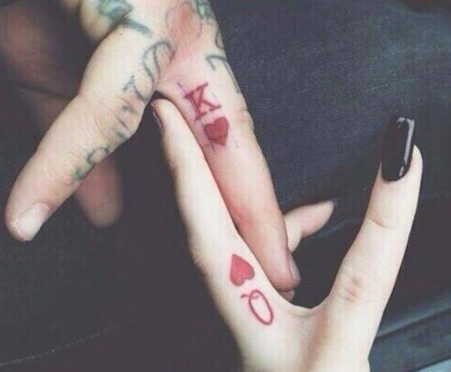 o_rei_e_a_rainha_de_correspondncia_de_tatuagens