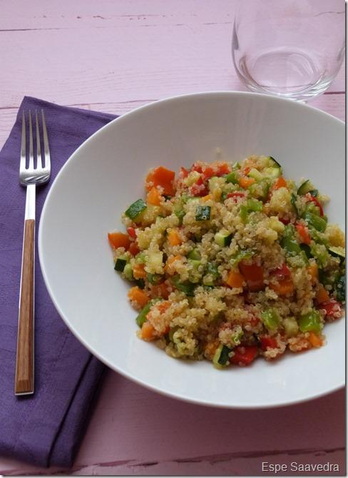 quinoa verduras espe saavedra