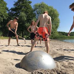 Parkour tricking på stranden 2018