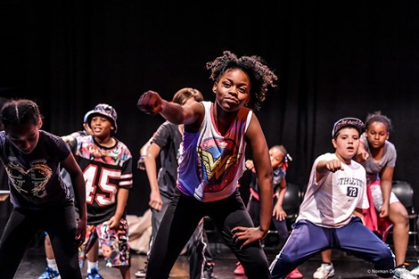 Students in NJPAC's Hip Hop Intensvie bring down the with their final showcase performance. Phot