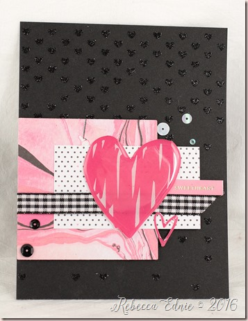 sweetheart glitter card