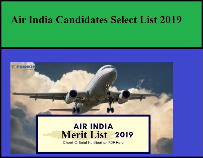 Air India Selection List 2019 – Download Now