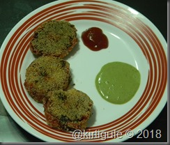 cutlets with Sauce and mint chutney