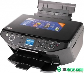 How to reset flashing lights for Epson RX615 printer