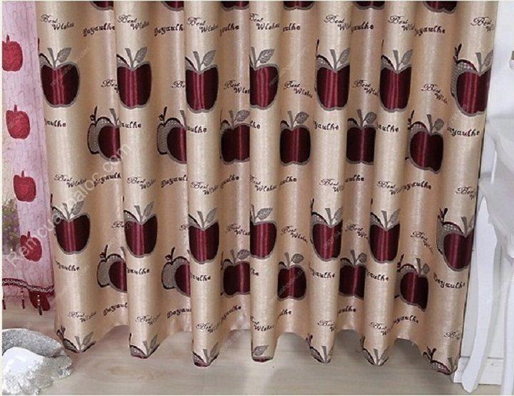 Rèm vải cao cấp hà nội quả táo đỏ eva 14